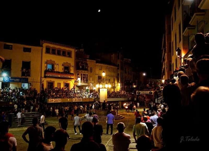 Noche de toros en Segorbe. Foto: J. Toledo