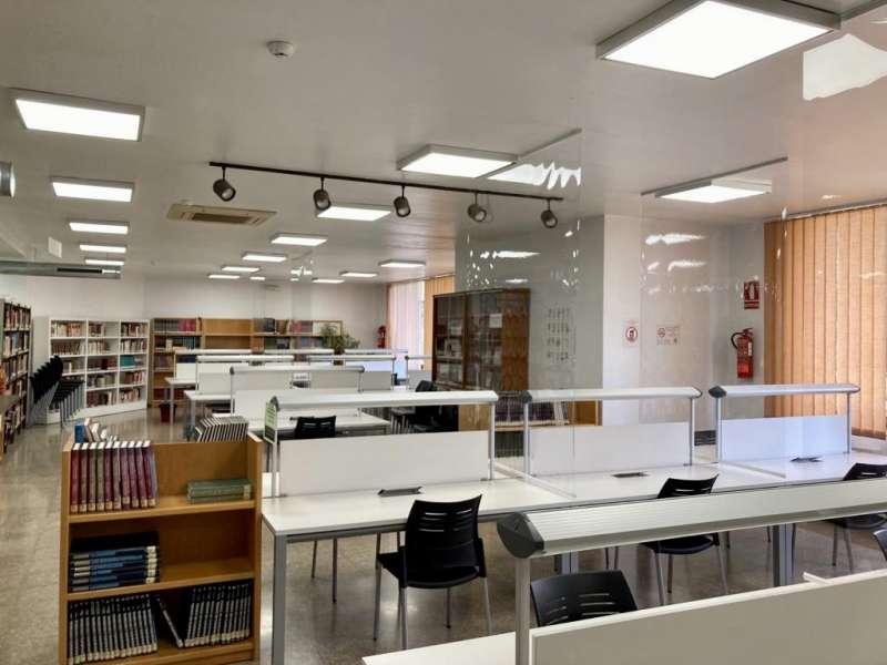 Sala de estudio de la Biblioteca de L