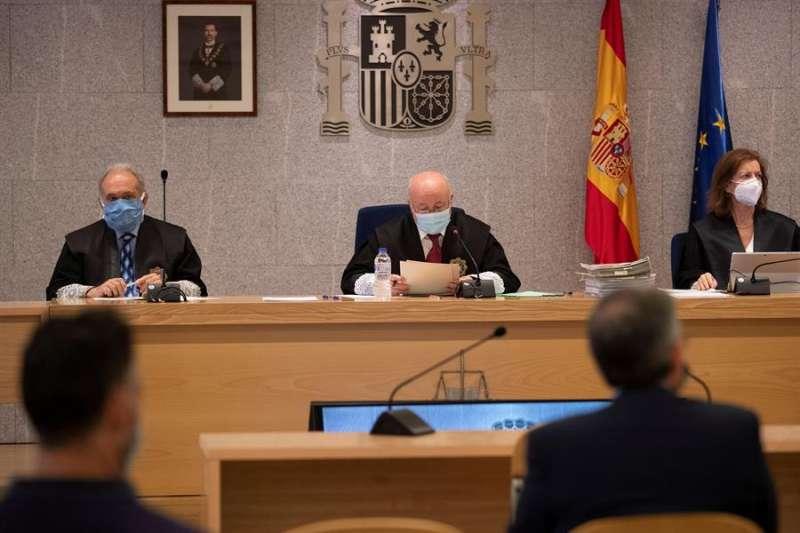 Sala de la Audiencia Nacional donde se celebra el juicio de la pieza del caso Gürtel relativa a los contratos de actos celebrados por la visita del papa Benedicto XVI a Valencia en 2006. EFE/Archivo