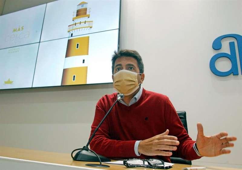 El presidente de la Diputación de Alicante, Carlos Mazón.