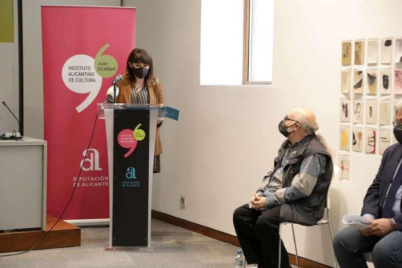 Imagen del acto de presentación de la muestra, cedida por la Diputación de Alicante. EFE