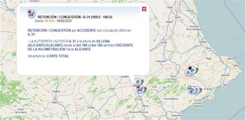 Croquis del lugar del accidente compartido en redes sociales por la DGT.