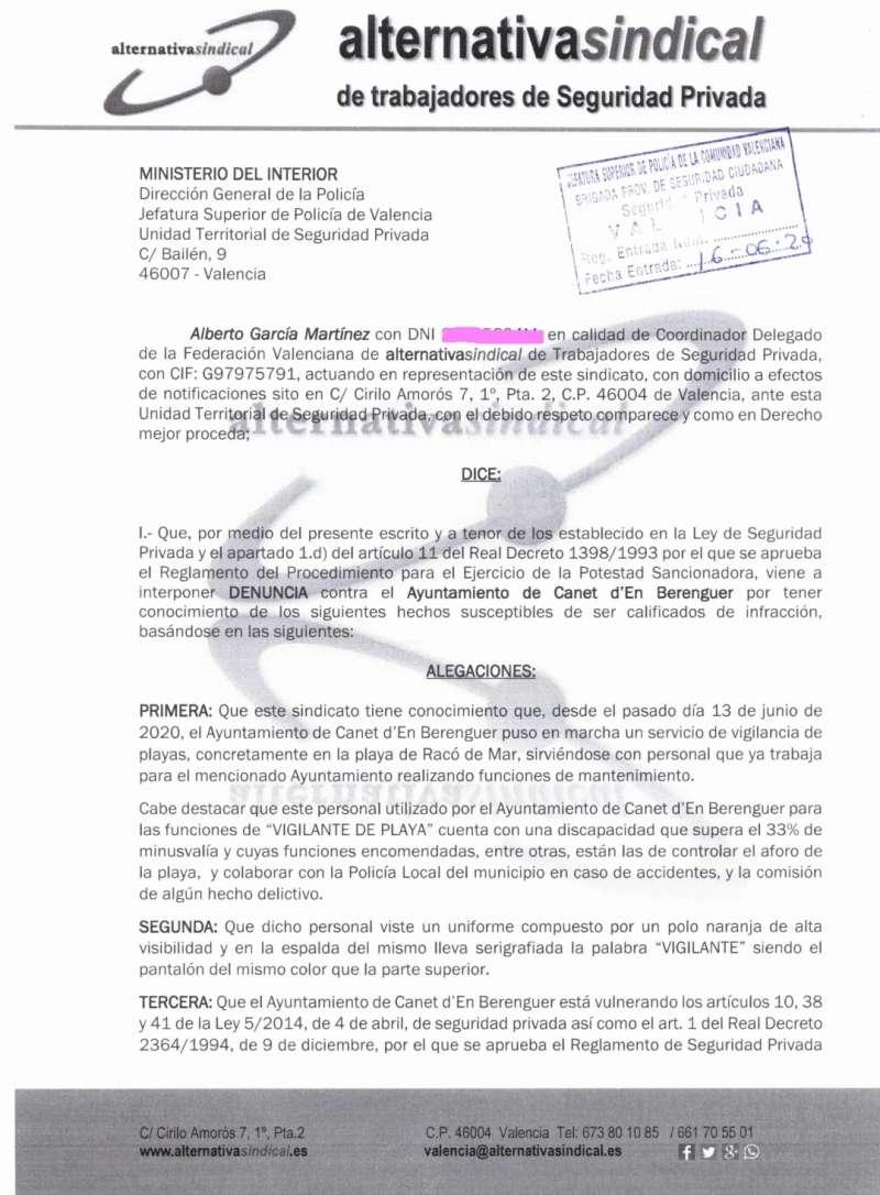 Denuncia de un sindicato al Ayuntamiento por incumplimiento de la Ley de Coordinación de Policías Locales y la Ley de Seguridad Privada