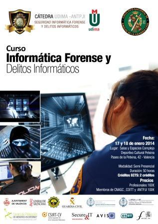 Cartel del curso sobre delitos informáticos.