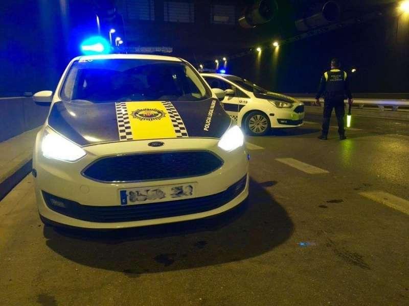 Imagen de la Policía Local de València, en una intervención.