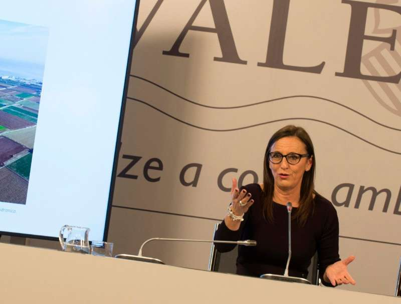 María Josep Amigó, vicepresidenta de la Diputació y responsable del área de Medio Ambiente. EPDA.