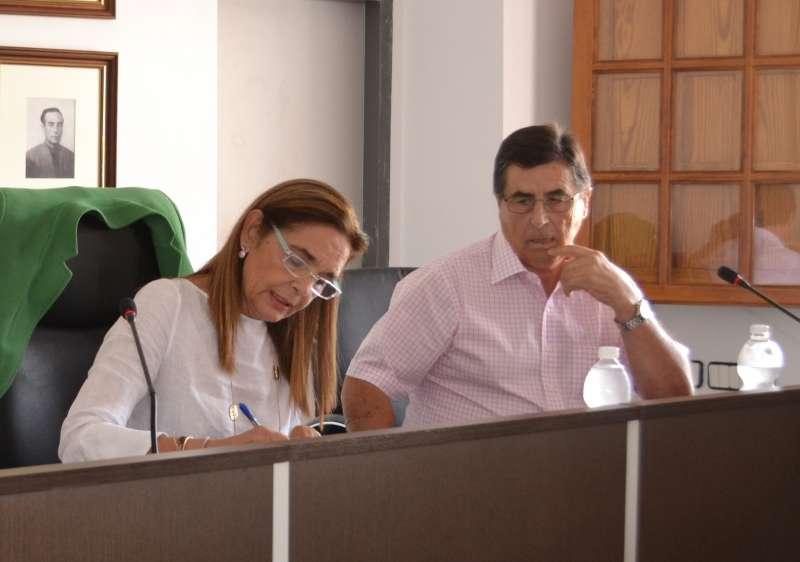 El ex alcalde de Torres Torres en un pleno. EPDA