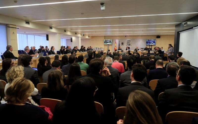 Primera sesión del juicio por la salida a Bolsa de Bankia en 2011 que se celebra en la Audiencia Nacional de San Fernando de Henares. EFE/Archivo