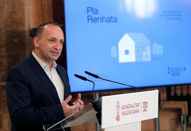 El vicepresidente segundo y conseller de Vivienda, Rubén Martinez Dalmau, de Unides Podem, en un acto celebrado este lunes. EFE