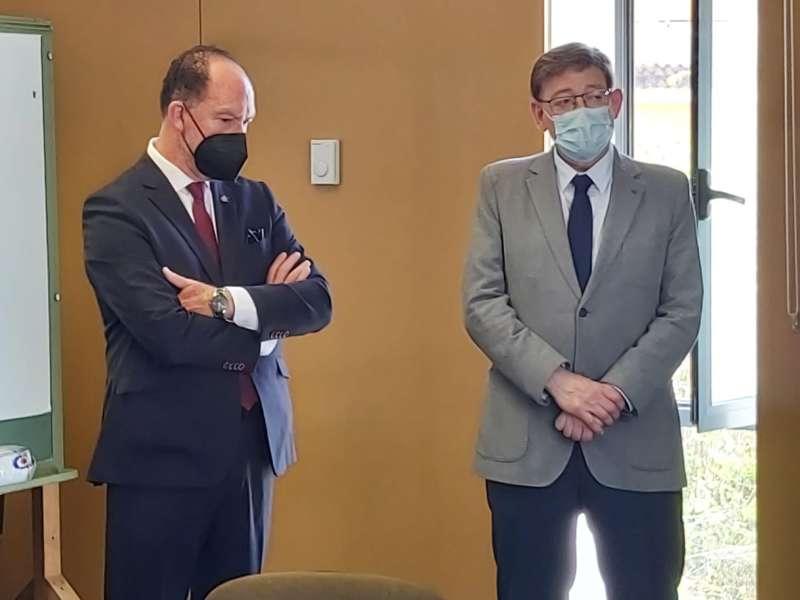 Emilio Bascuñana y Ximo Puig/EPDA