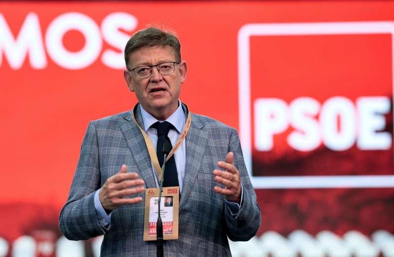 El president de la Generalitat y secretario general del PSPV, Ximo Puig, en el 40 Congreso Federal del PSOE.