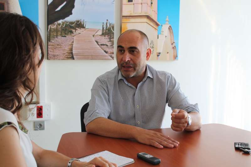 Rafa Corresa durante una entrevista.
