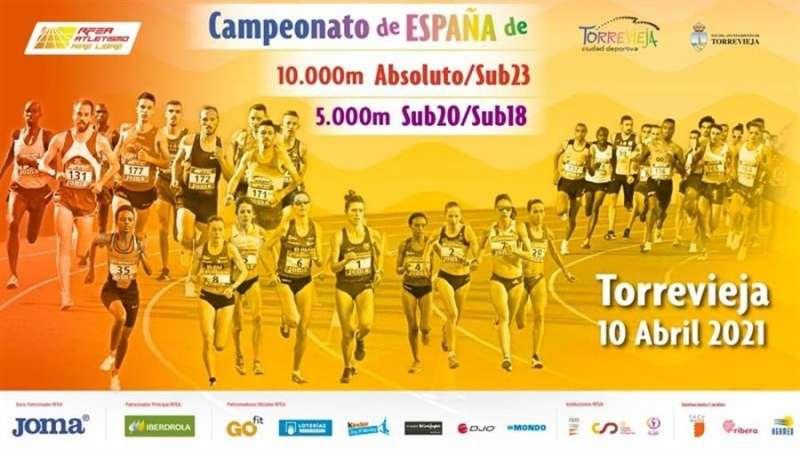 Cartel promocional de la cita de atletismo de este fin de semana en Torrevieja (Alicante).