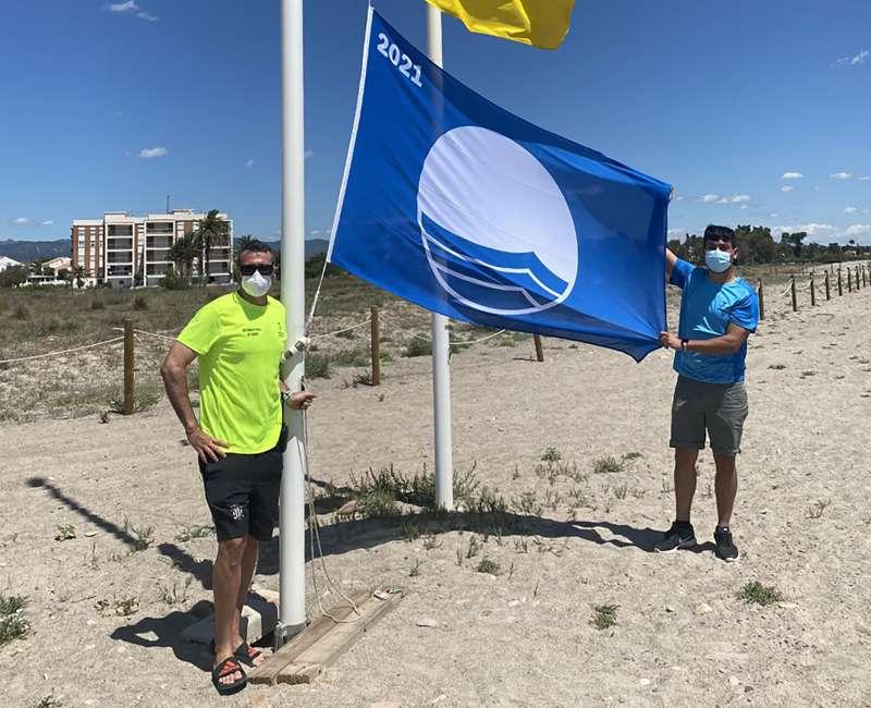 Bandera azul de Corinto. / EPDA