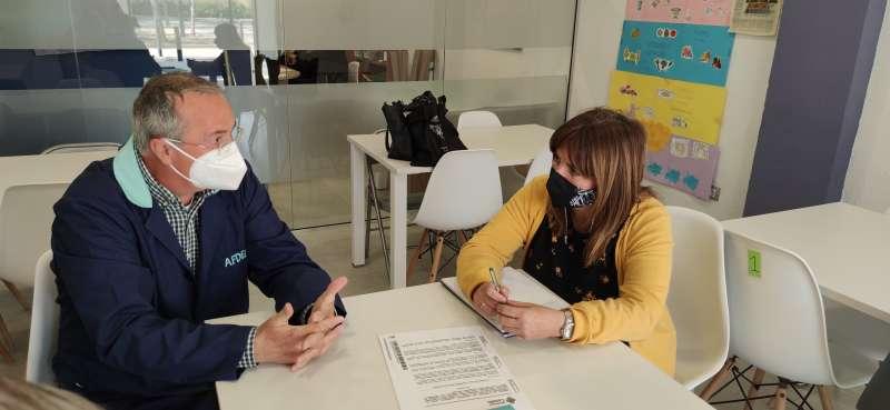 Mary Carmen Ribera visita AFDEM/EPDA