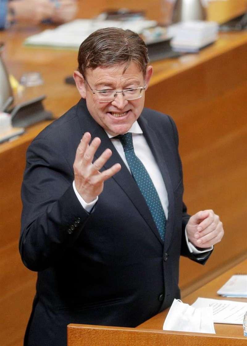 El president de la Generalitat, Ximo Puig, en Les Corts. EFE