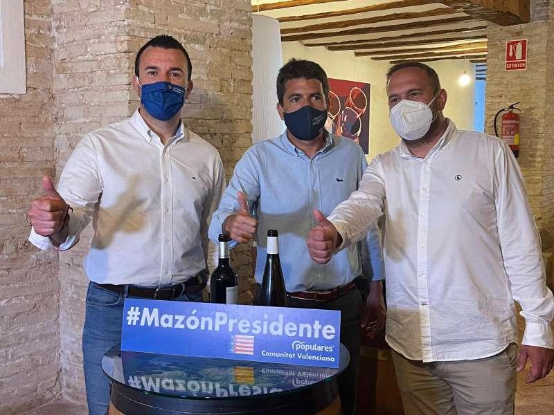 Presentación de la candidatura de Mazón en Requena junto a Mompó y García