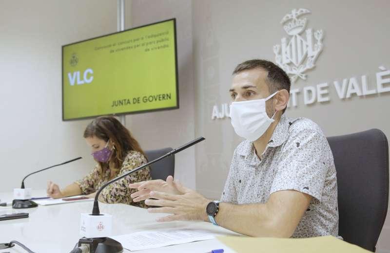 Rueda de prensa en el Ayuntamiento de València. EPDA