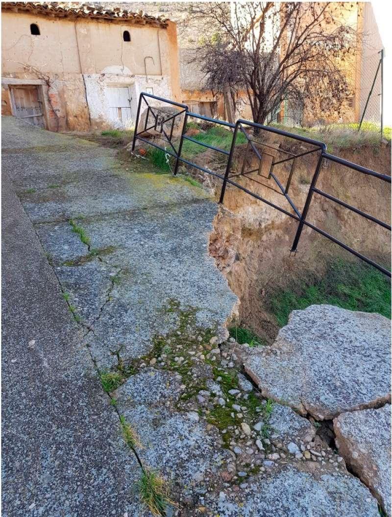 Estat del carrer després de les últimes pluges i abans de l