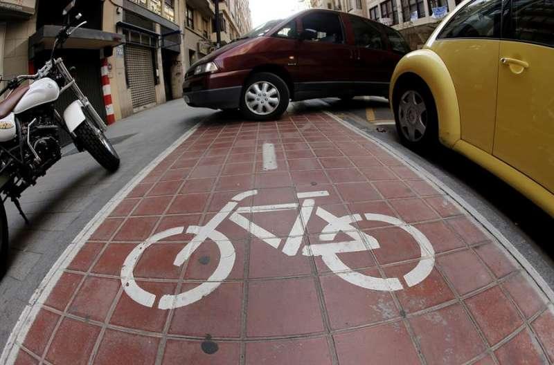 Imagen de un carril bici. EFE