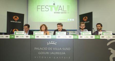 Presentación de Cheesboxing, ganador del concurso de El Sótano de Antena 3. FOTO QUINTAS/FESTVAL