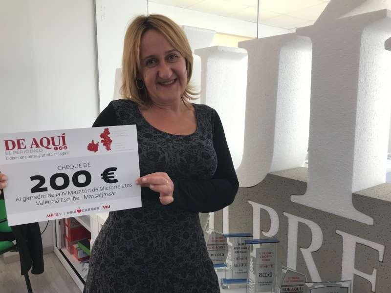 Primer premio de 200 euros patrocinado por El Periódico de Aquí. EPDA