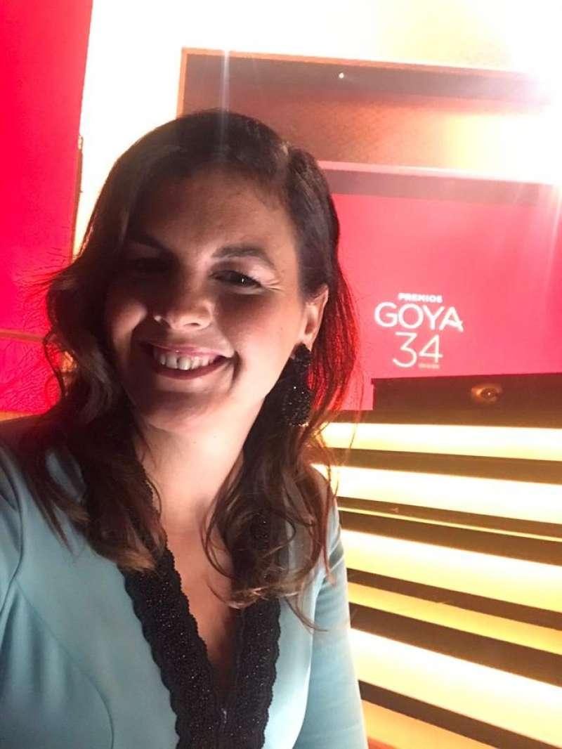 La vicealcaldesa de València, Sandra Gómez, en la gala de los Goya, en una imagen compartida por ella en redes sociales.