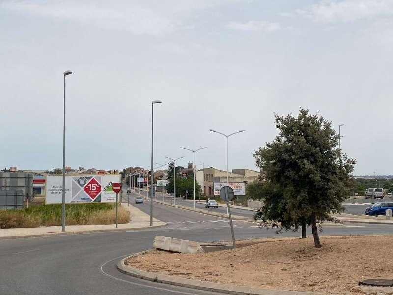 Zona comercial de Llíria. EPDA.