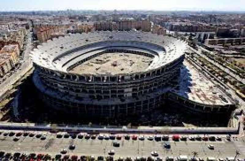 Estadio del Nou Mestalla, paralizado. EPDA
