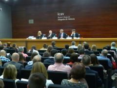 Sesión del curso sobre la reforma del código penal celebrado en ICAV.
