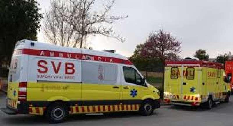 Una ambulancia de SVB