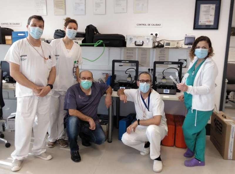 Donación de las impresoras al Hospital General de Valencia. EPDA