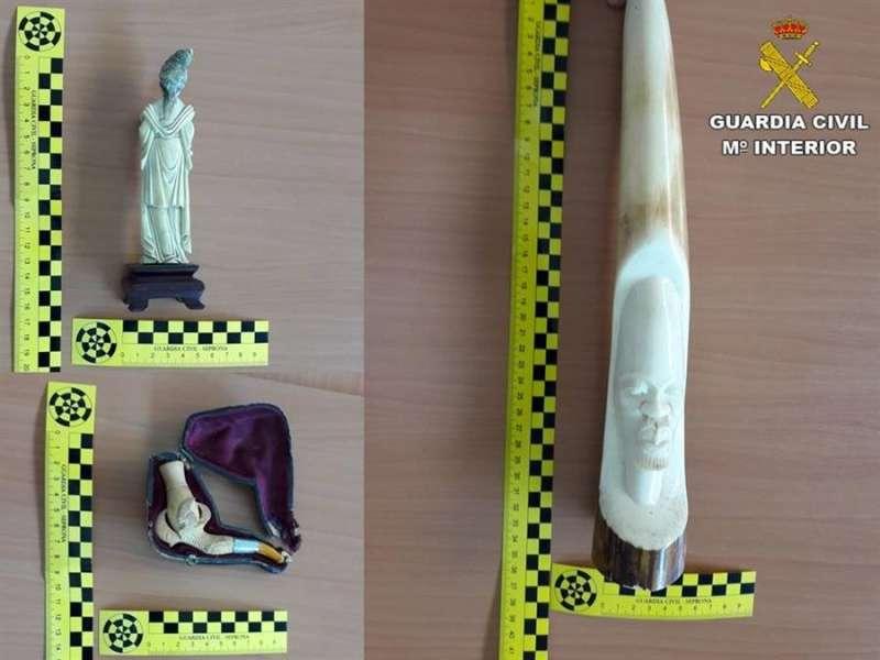 Imagen de las piezas recuperadas, facilitada por la Guardia Civil. EFE