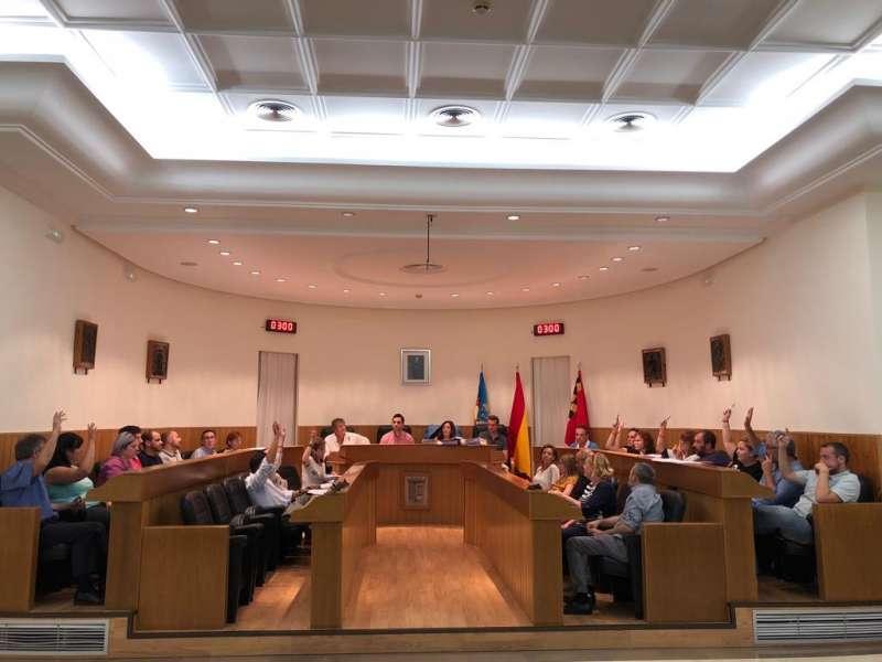 Votación moción del pleno de Paterna.