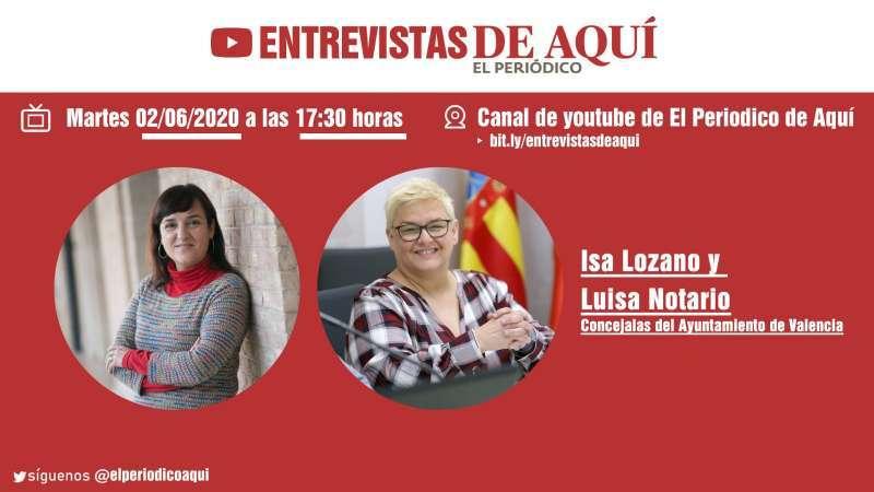 Isa Lozano y Luisa Notario, entrevistadas este martes.