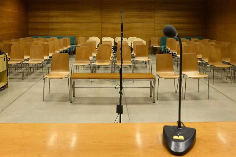Una sala de juicios antes de una vista oral. EFE/