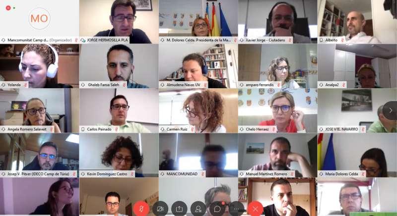 Sesión telemática del Observatorio de Empleo y Empresa de la Mancomunitat Camp de Túria. / EPDA