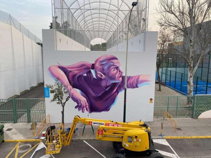 Gran mural a Aldaia. EPDA