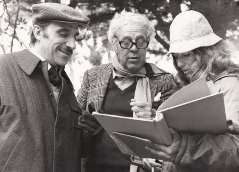 José Sazatornil (Saza), Luis García Berlanga e Isabel Mulá. Colección García Berlanga