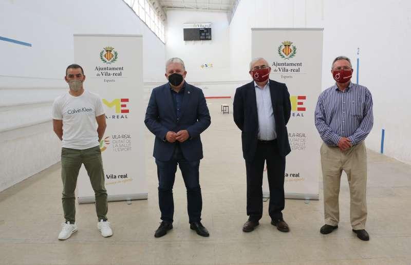 Acto de la firma del convenio entre el Ajuntament de Vila-real y la Fundació de la Comunitat Valenciana per la Pilota Valenciana.