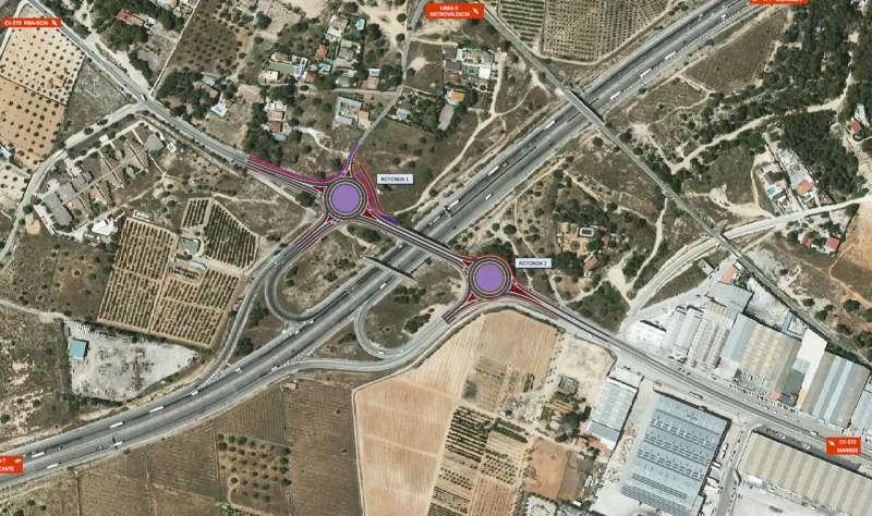 Plano de las rotondas CV-370. -EPDA