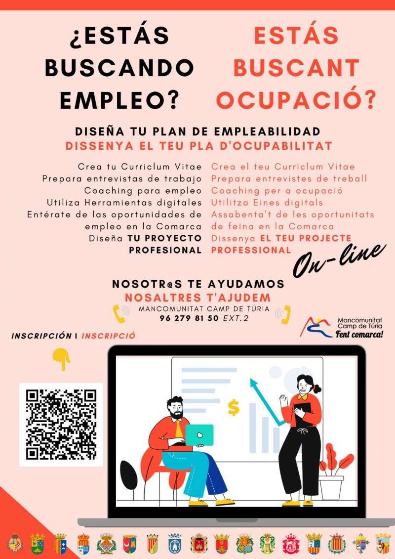 Cartel informativo sobre empleo. / EPDA