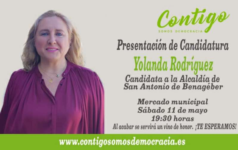 Cartel de la presentación de la candidatura de Contigo en SAB. EPDA