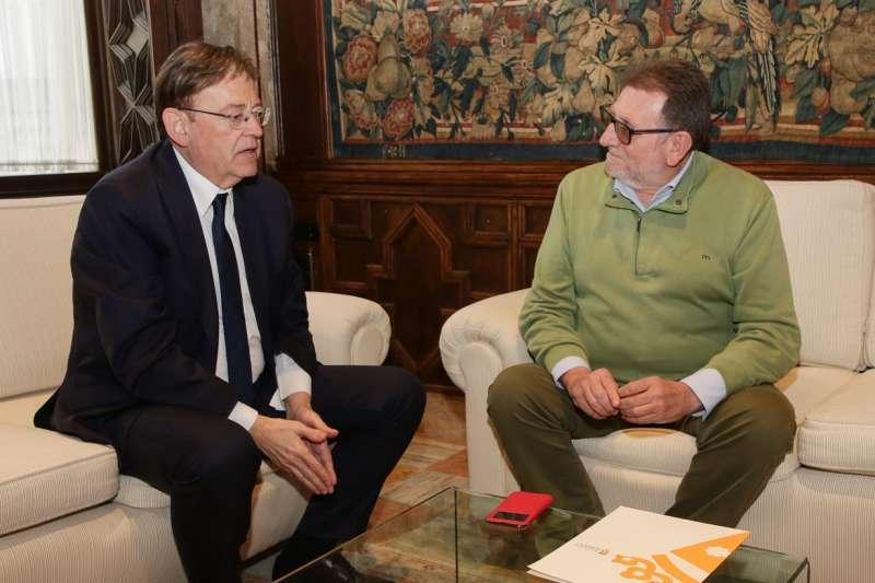 Encuentro entre el alcalde de Torrent, Jesús Ros, y el President de la Generalitat, Ximo Puig. EPDA