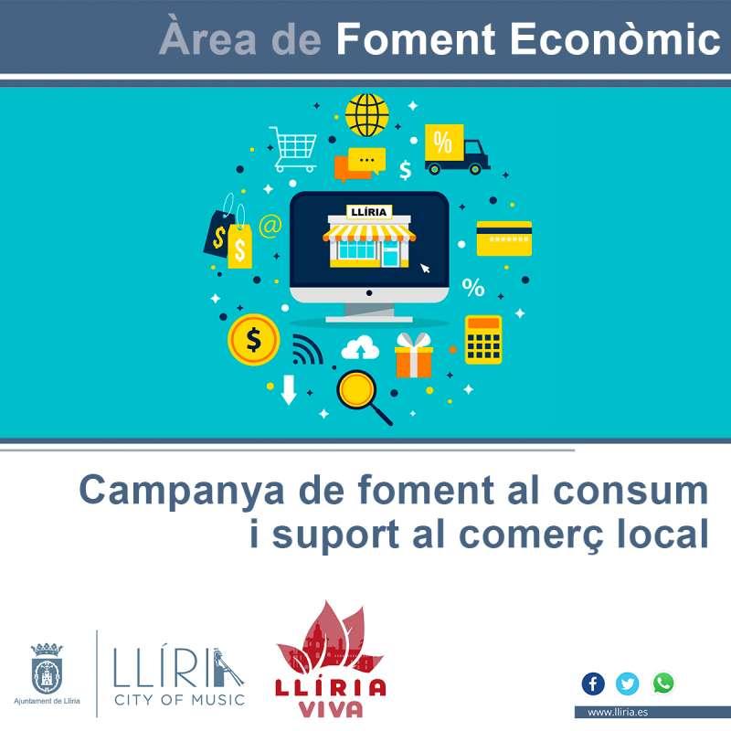 Cartel de promoción de apoyo al comercio local. / EPDA
