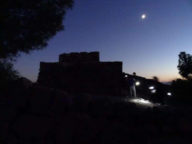 El Puntal dels Llops por la noche.//EPDA