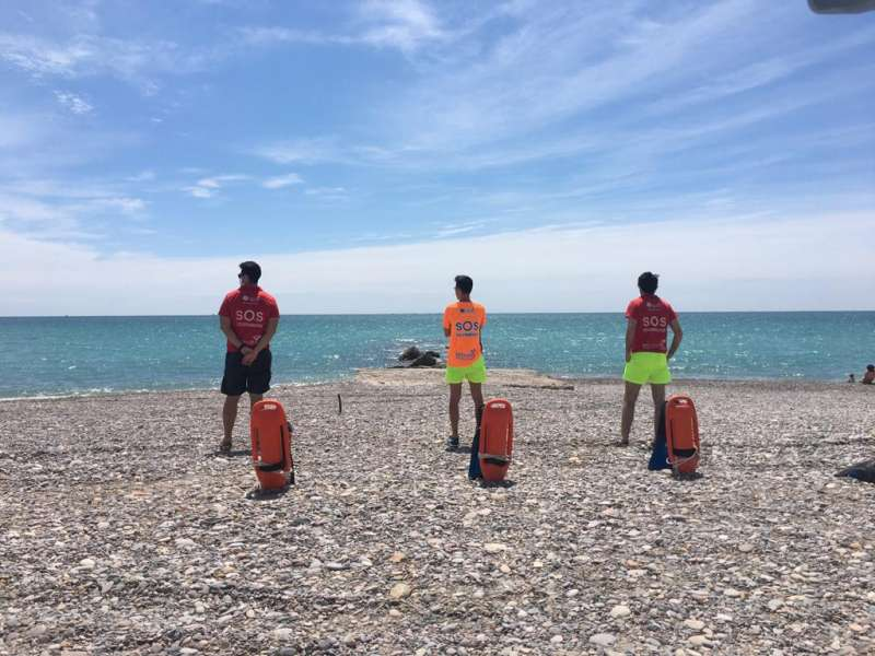 Socorristes de la platja de Nules. EPDA