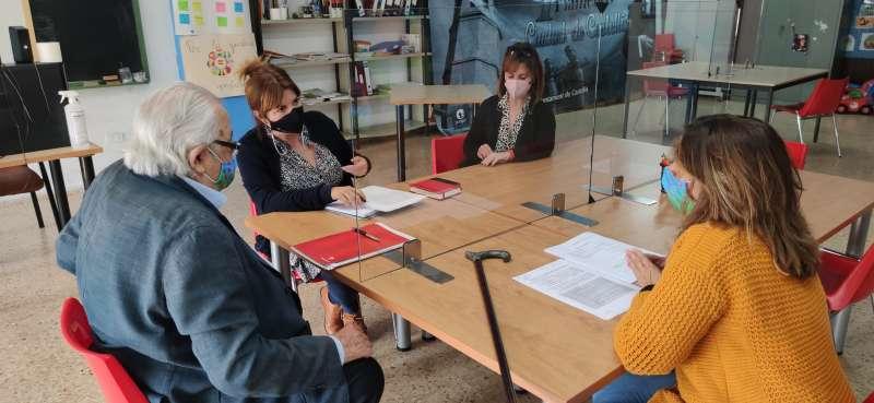 Mary Carmen Ribera visita la Fundació Panjab/EPDA