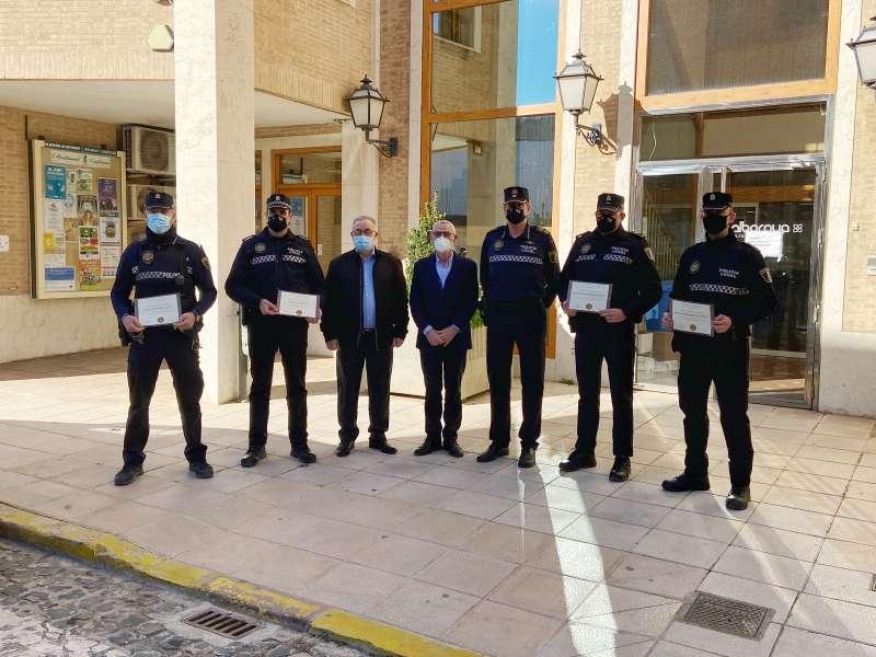 Reconociemiento de los policias en Alboraia