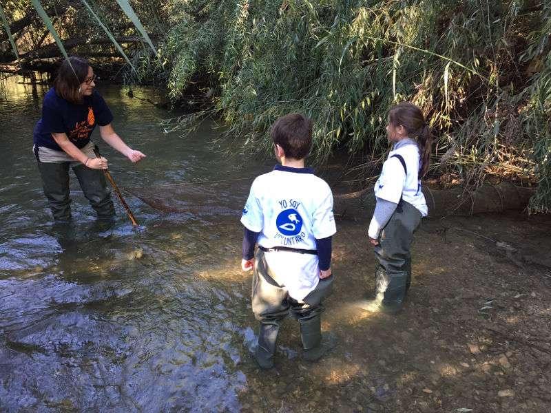 Instante de la jornada coordinada conjuntamente por el Grupo Aguas de Valencia, la Fundación del Oceanogràfic y la Fundación LIMNE